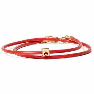 KATE SPADE • Red Wrapped Up Wrap Bracelet